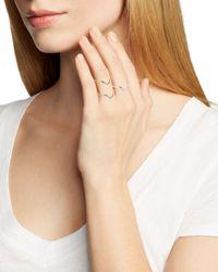 Phyllis + Rosie   Metallic Triangle Rings, Set Of 3 - Bloomingdale's Exclusive   Lyst