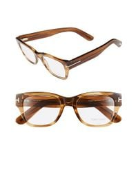 Tom Ford | 'ft5379' 51mm Optical Glasses - Shiny Dark Brown | Lyst