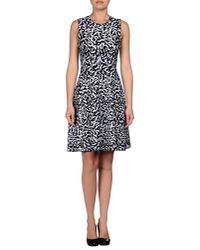 Issa - Blue Ruched Printed Silkjersey Dress - Lyst