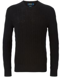 Polo Ralph Lauren - Black Crew Neck Sweater for Men - Lyst