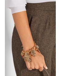 Oscar de la Renta | Metallic Ivy Gold-plated Crystal Bracelet | Lyst