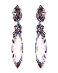Alexis Bittar Fine | Purple 2-Drop Amethyst Cluster Earrings | Lyst