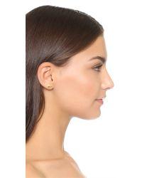 kate spade new york - Metallic Golden Elephant Stud Earrings - Lyst