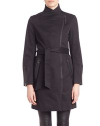 Mackage | Black Estelle Asymmetrical Trenchcoat | Lyst