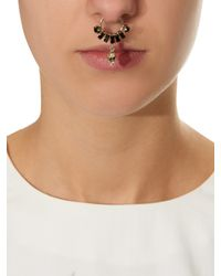 Givenchy | Black Crystal And Skull-Embellished Nose Ring | Lyst