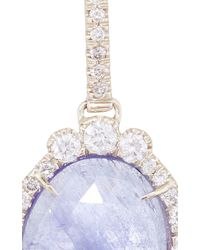 Kimberly Mcdonald | Blue One Of A Kind Tanzanite And Irregular Diamond Earrings | Lyst