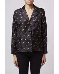 TOPSHOP - Black Twinkle Pyjama Style Shirt By Boutique - Lyst