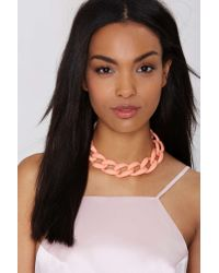 Nasty Gal - Pink Sweet Deal Erase Chain Choker - Lyst