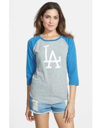Red Jacket - Blue 'dodgers - Vintage' Baseball Tee - Lyst