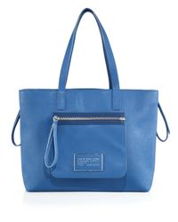Marc By Marc Jacobs | Blue Zipper Tote | Lyst