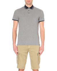Armani Jeans | Gray Cotton-piqué Polo Shirt for Men | Lyst
