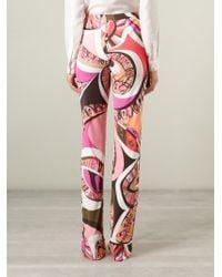 Emilio Pucci | Purple High Waist Printed Trousers | Lyst