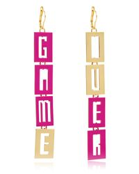 Maria Francesca Pepe | Purple Video Games Earrings | Lyst