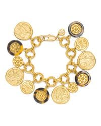 Tory Burch | Metallic Shiloh Charm Bracelet - For Women | Lyst