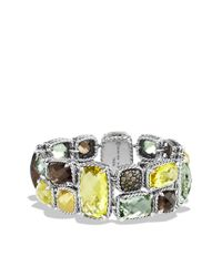 David Yurman - Metallic Mosaic Bracelet with Lemon Citrine Cognac Diamonds and Gold - Lyst