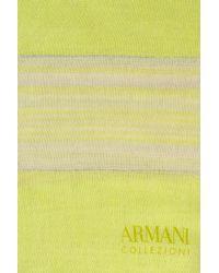 Armani - Green Wrap In Striped Cotton - Lyst