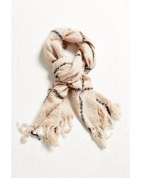 Urban Outfitters | Natural Brushed Plaid Blanket Scarf | Lyst