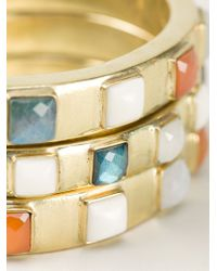 Vaubel | Multicolor Square Stone Triple Bangle | Lyst