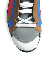 Pierre Hardy - White Multicolored Laceup Sneakers for Men - Lyst