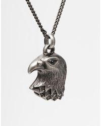 Simon Carter | Metallic Eagle Necklace for Men | Lyst