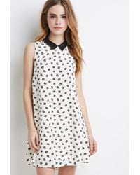 Forever 21 | Black Daisy Shift Dress | Lyst