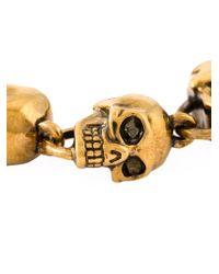 Alexander McQueen | Metallic Skull Bead Bracelet | Lyst