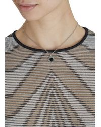 Marc By Marc Jacobs | Metallic Silver Tone Logo Necklace | Lyst