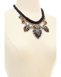 Forever 21 - Blue Faux Gem Statement Necklace - Lyst
