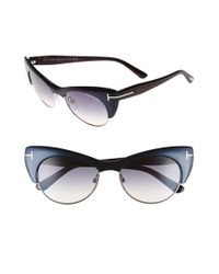 Tom Ford - 'lola' 54mm Sunglasses - Turquoise/ Gradient Blue - Lyst