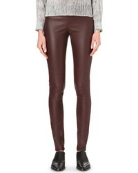 JOSEPH | Purple Skinny Leather Leggings | Lyst