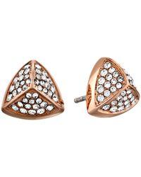 Fossil - Metallic Pyramid Stud Earring - Lyst