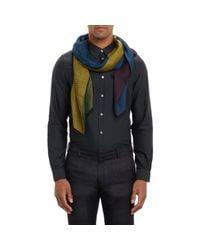 Paul Smith - Multicolor Colorblock Zigzag-Pattern Scarf for Men - Lyst