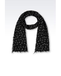 Armani Jeans - Gray Scarf In Logoed Fabric - Lyst