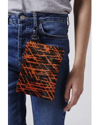 TOPSHOP | Orange Pony Zip-top Pouch | Lyst