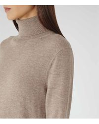 Reiss | Brown Gilmore Roll-neck Jumper Dress | Lyst