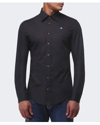 Vivienne Westwood - Black One Button Orb Shirt for Men - Lyst