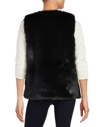 Cece by Cynthia Steffe   Black Faux Fur Vest   Lyst