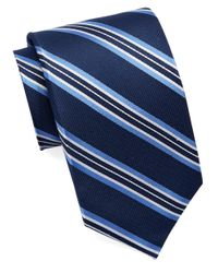 Burma Bibas | Blue Silk Multi-stripe Tie for Men | Lyst