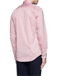 Paul Smith - Red Mini Dot Print Poplin Shirt for Men - Lyst