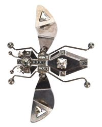Lanvin - Metallic Bug Brooch - Lyst