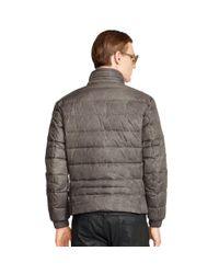 Ralph Lauren Black Label | Gray Recruiter Waxed Down Jacket for Men | Lyst