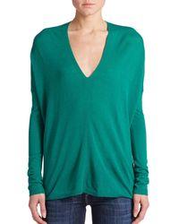 Vince - Green V-neck Sweater - Lyst