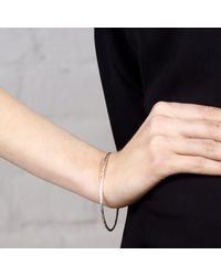 Maya Magal - Metallic Beaten Bangle Silver - Lyst