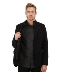 Michael Kors - Black Flannel Bib Blazer for Men - Lyst