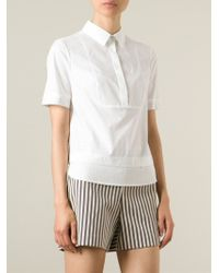 Tory Burch - White Layered Short Sleeve Shirt - Lyst