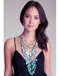Bebe - Multicolor Beaded Ombre Necklace - Lyst
