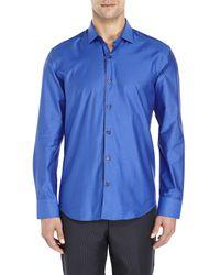 Stone Rose - Blue Dot Woven Sport Shirt for Men - Lyst