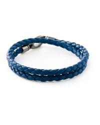 Tod's | Blue Braided Leather Bracelet for Men | Lyst