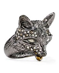 Alexis Bittar - Metallic Elements Crystal-Encrusted Fox Ring - Lyst