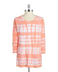 Calvin Klein | Orange Tie-dye Top | Lyst